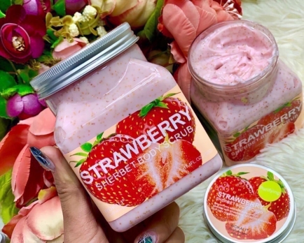 Скраб для тела Wokali Strawberry Sherbet Body Scrub